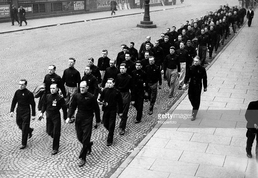 Politics. Fascism. pic: 1934. Manchester fascists (Blackshirts ...