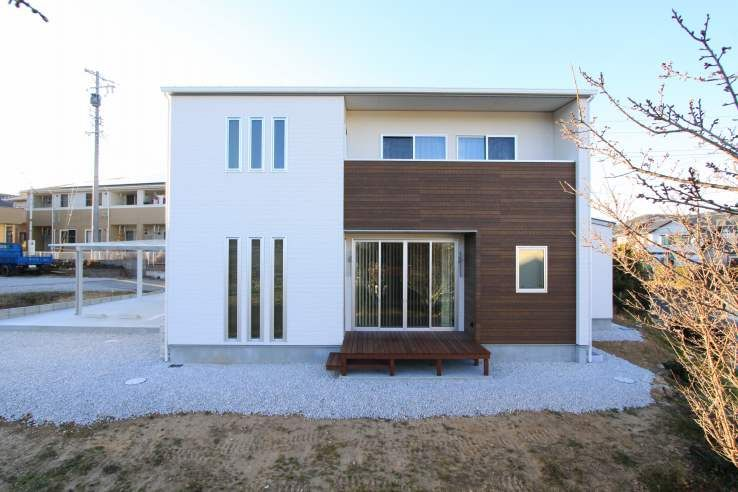 外観集 シンプルモダン 洋風の家 家 近代的な外観 家 外観
