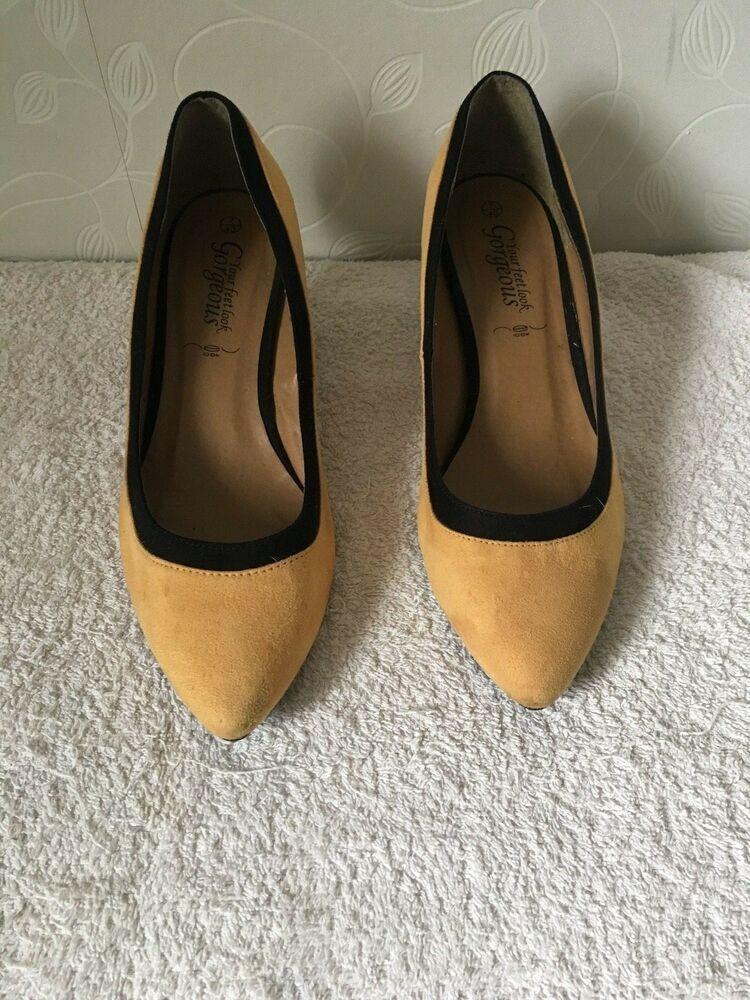 New Look Shoes Size 7 Kitten Heels Mustard Black Kitten Heels From Ebay Uk Kittenheels Heels 0 99 0 Bi New Look Shoes Kitten Heels Black Kitten Heels