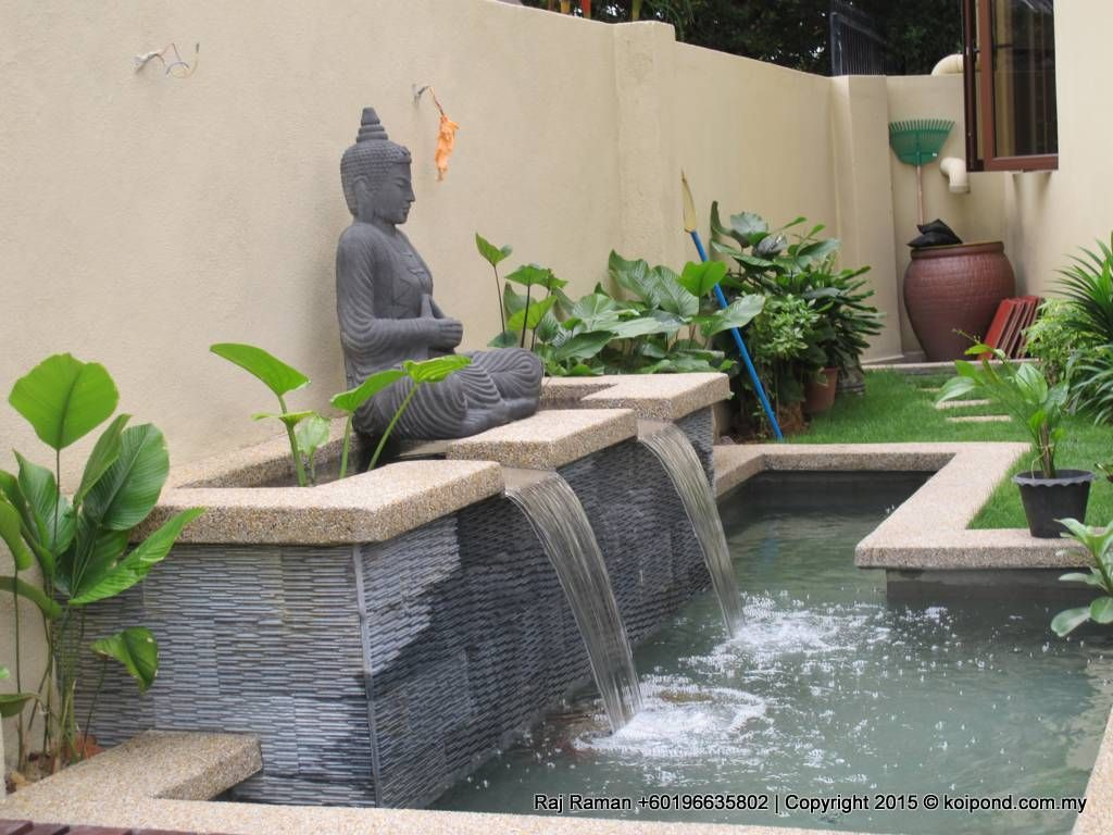 Koi pond idea and design fountain design trading for Pond with fountain