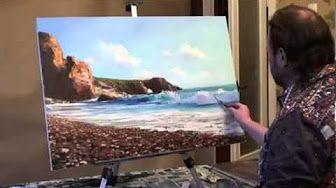 Paisajes Pintados Al Oleo Youtube Paisaje Marino Sajarov Tutoriales De Pintura Al óleo