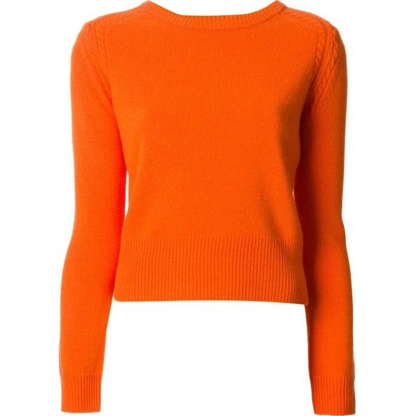 Marc By Marc Jacobs Ivy Sweater (€160) ❤ liked on Polyvore featuring tops, sweaters, pitkähihat, marc jacobs, orange top, marc by marc jacobs top, marc by marc jacobs sweater, orange sweater and marc by marc jacobs