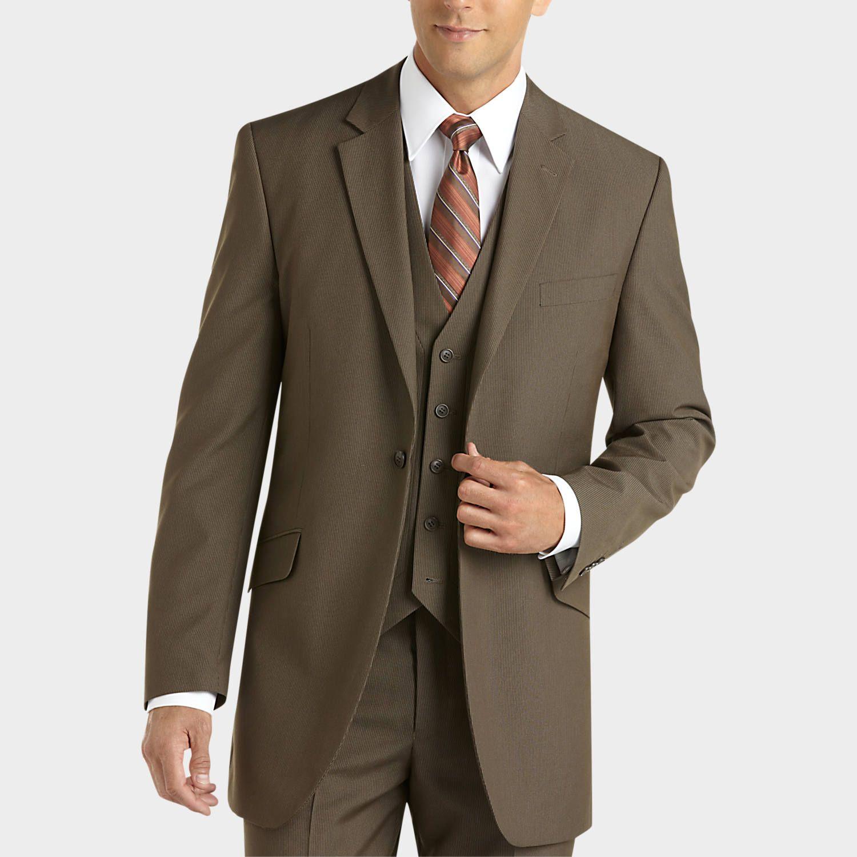 English Taupe Vested Suit Men's Wearhouse Mens suit