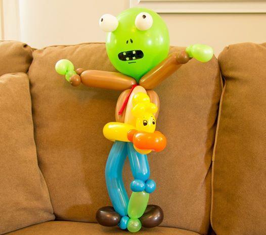 My Plants vs. Zombies - Rubber Ducky Zombie | Balloon Animals ...