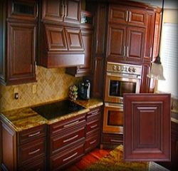 We Offer Best Quality Wood Species For RTA Charleston Cherry Pantry And  Oven Cabinets. Shop Now For Latest Range Of Pantry And Oven Cabinets In  Stock At ...