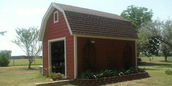 12x16 gambrel shed plans garden sheds pinterest for Gambrel pole barn plans