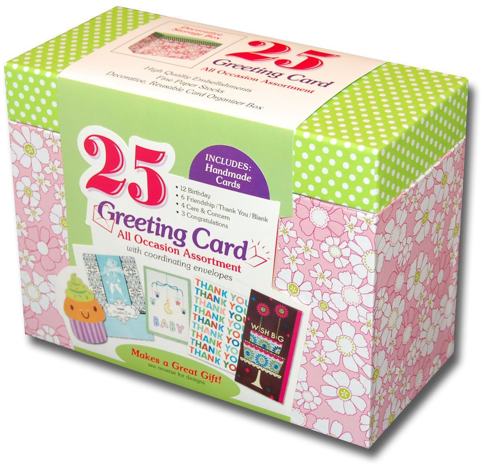 Paper Magic Box Of 25 Assorted All Occasion Embellished Greeting Cards Assorted Greeting Cards Greeting Card Box Paper Magic