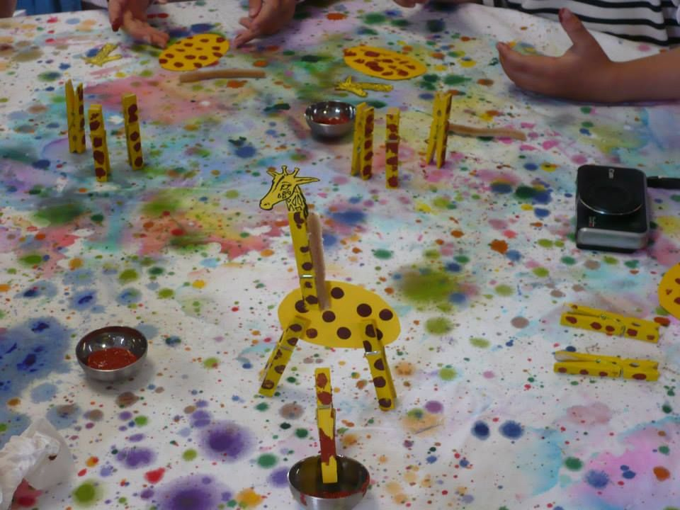 girafe pince à linge