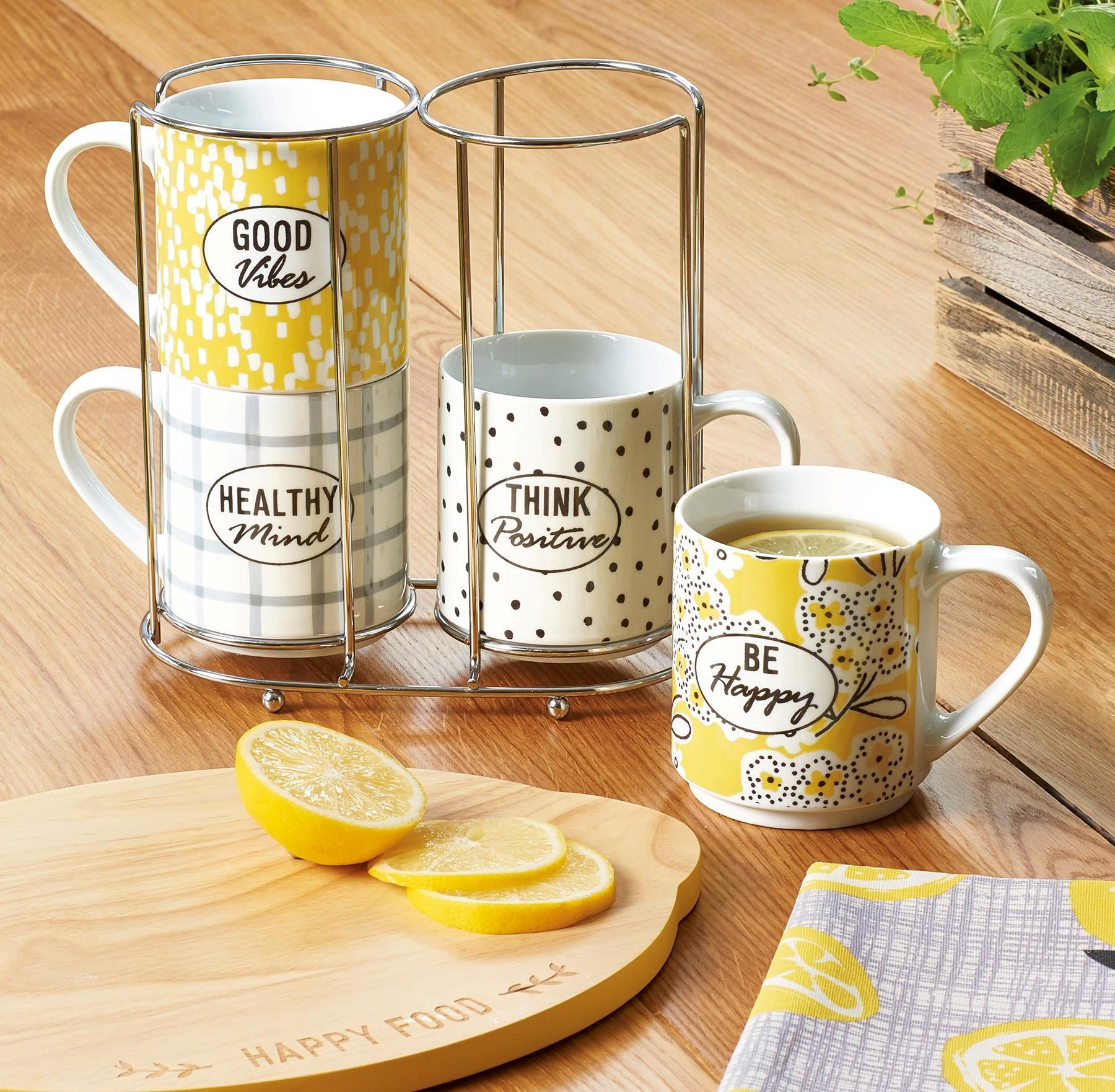 Buy Set of 4 Happiness Stacking Mugs from the Next UK
