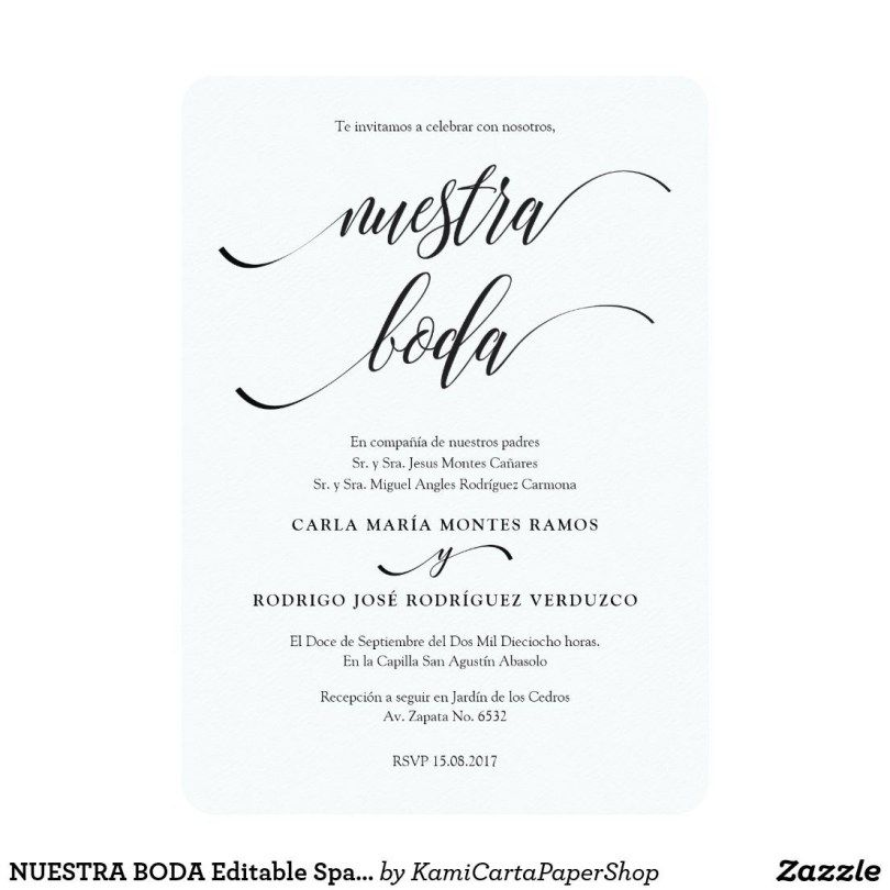 Spanish Wedding Invitations Amazing Wedding Invitations Fun