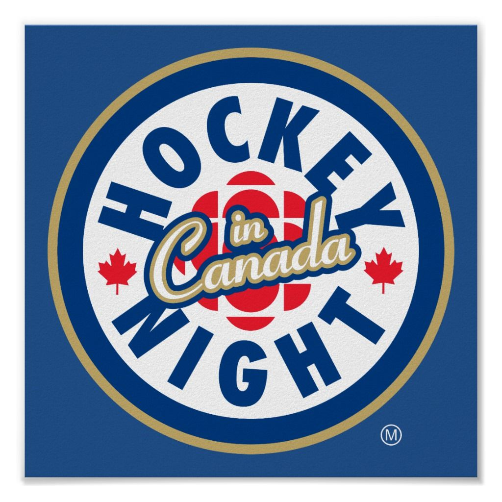 Hockey Night In Canada Logo Poster Canada Logo Logos Hockey
