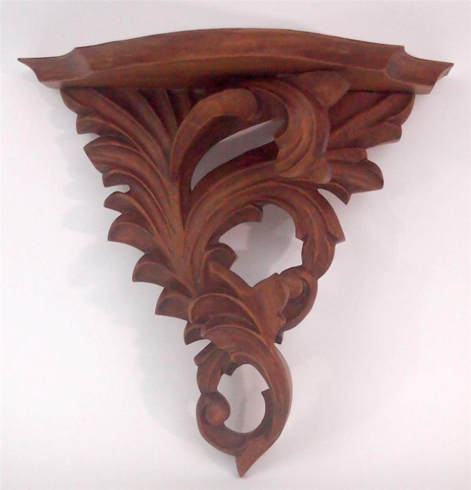 Vintage antique ornate carved wood wall shelf sconce rococo vintage antique ornate carved wood wall shelf sconce rococo rococo vintagewoodshelf amipublicfo Gallery