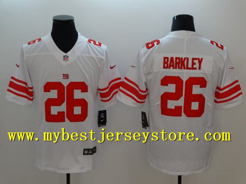 New York  Giants  26 Saquon  Barkley  White  2018 Draft Pick Vapor  Untouchable Stitched Limited  Jersey  23 81d311876