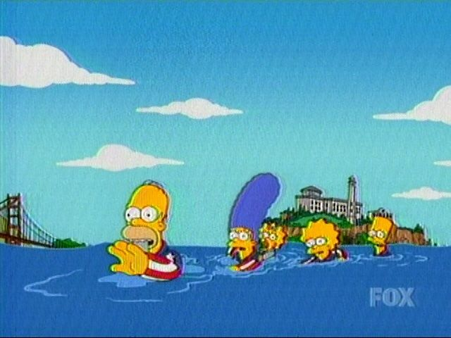 The Simpson S Escaping From Alcatraz With Images The Simpsons