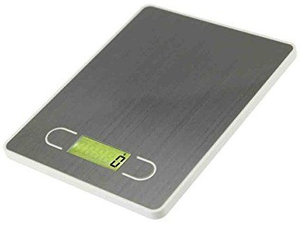 Digital Kitchen Scale Multifunction Food Scale, 11 lb 5 kg, white, Stainless Steel (Batteries Included) Tfancy