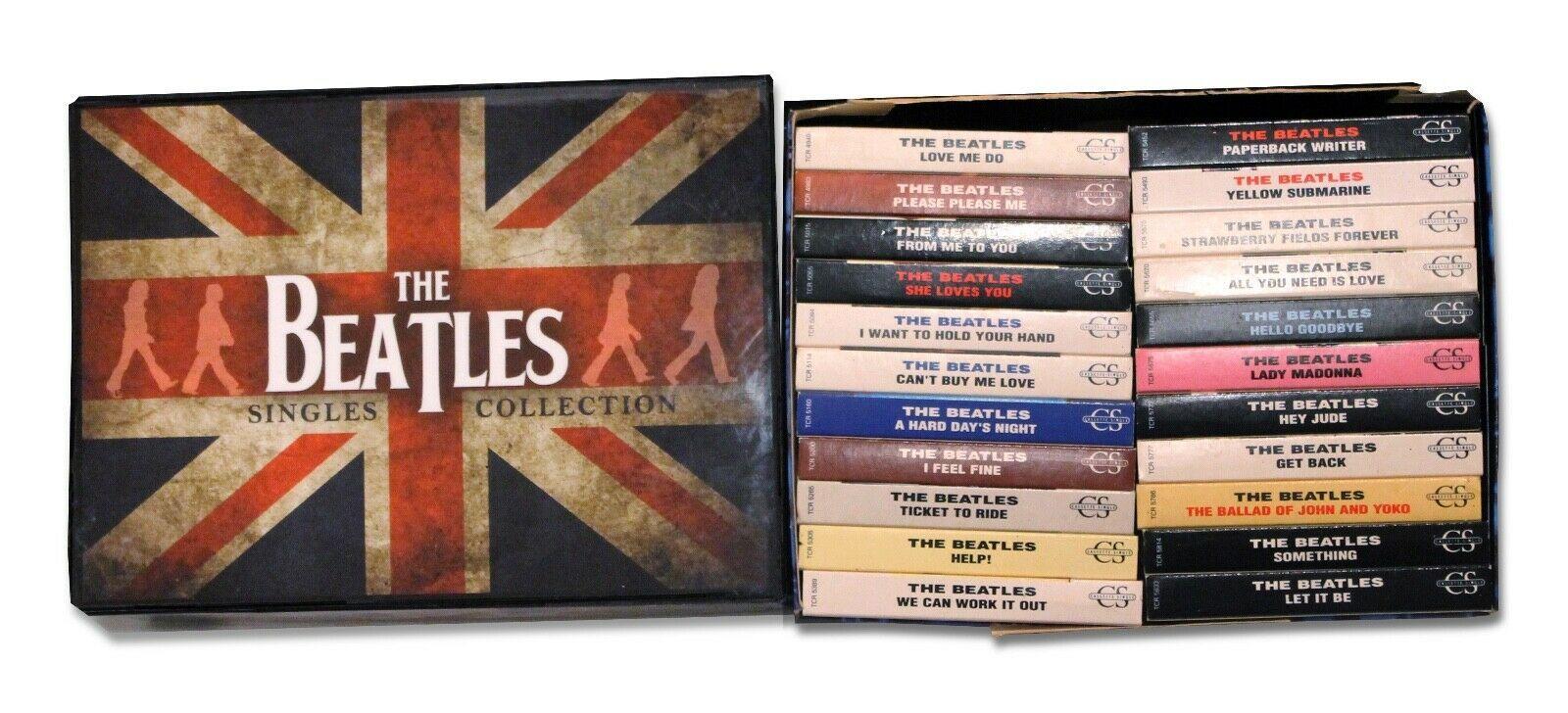 Beatles The Beatles Singles Collection 22 Uk Cassette Box Set Parlophone The Beatles Help Beatles Singles The Beatles