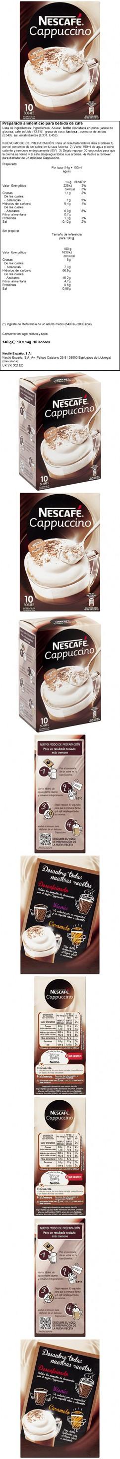 Nescafe Cappucino Packets 14g 10 ct Nescafe, Instant