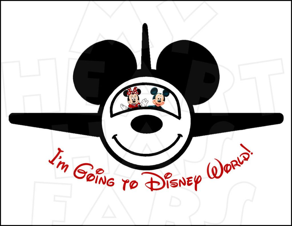 I M Going To Disney World Airplane With Mickey And Minnie