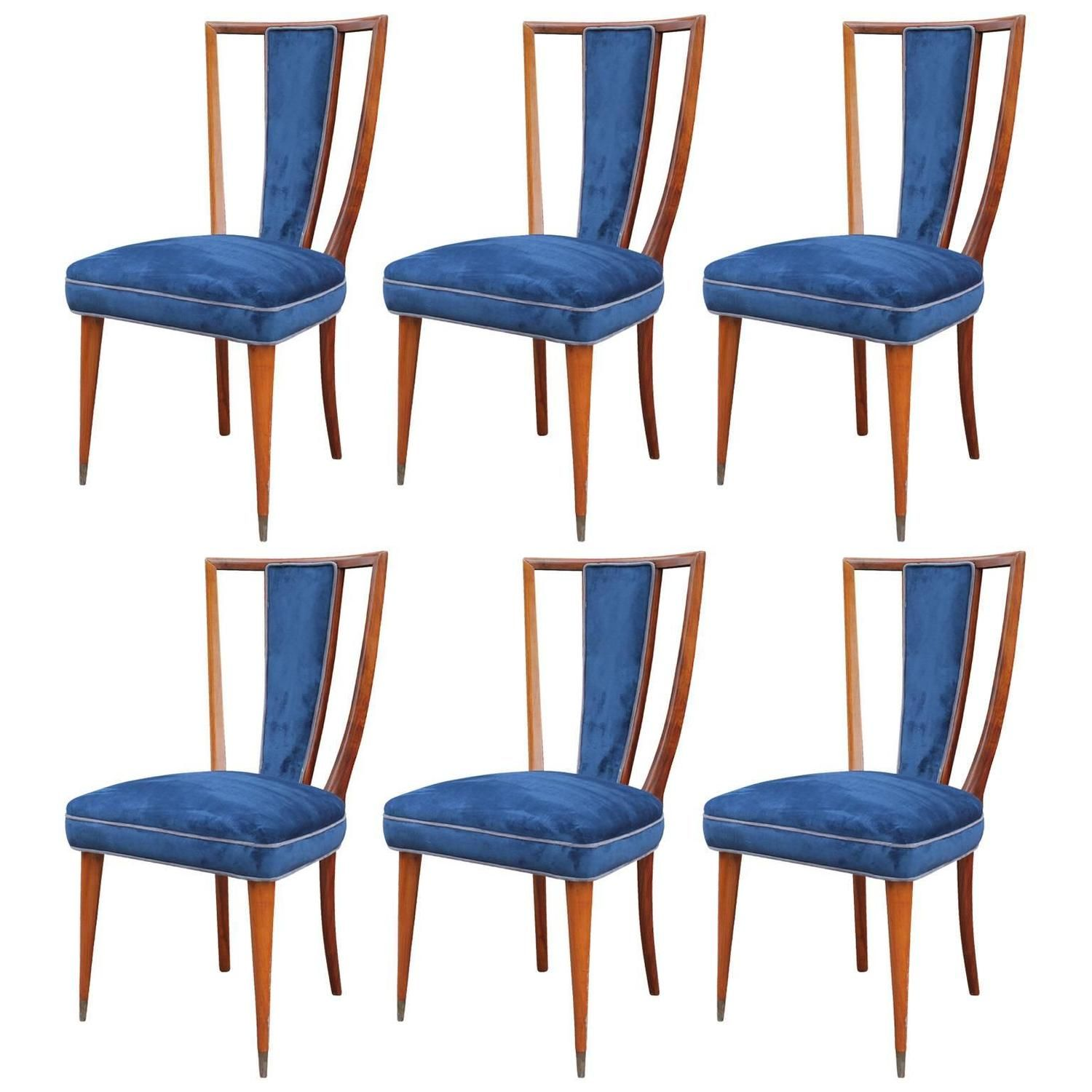 wonderful set of six sculptural high back dining chairs - Set Of Six Dining Room Chairs