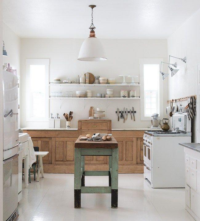 La nueva cocina rústica | Porcelana blanca, Cocinas rústicas y ...