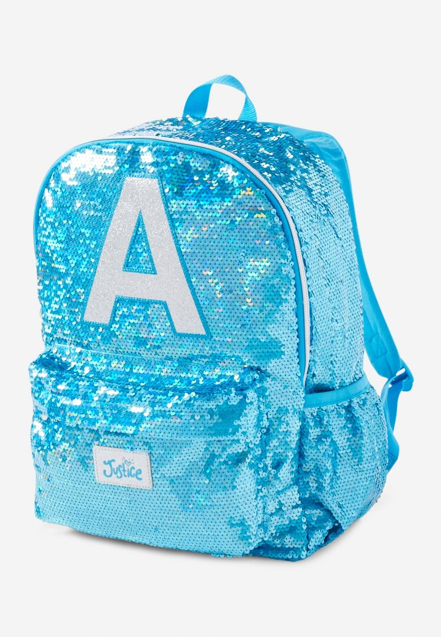 04391a1d58 Sequin Sparkle Initials Backpack. Sequin Sparkle Initials Backpack Cute  Girl Backpacks ...