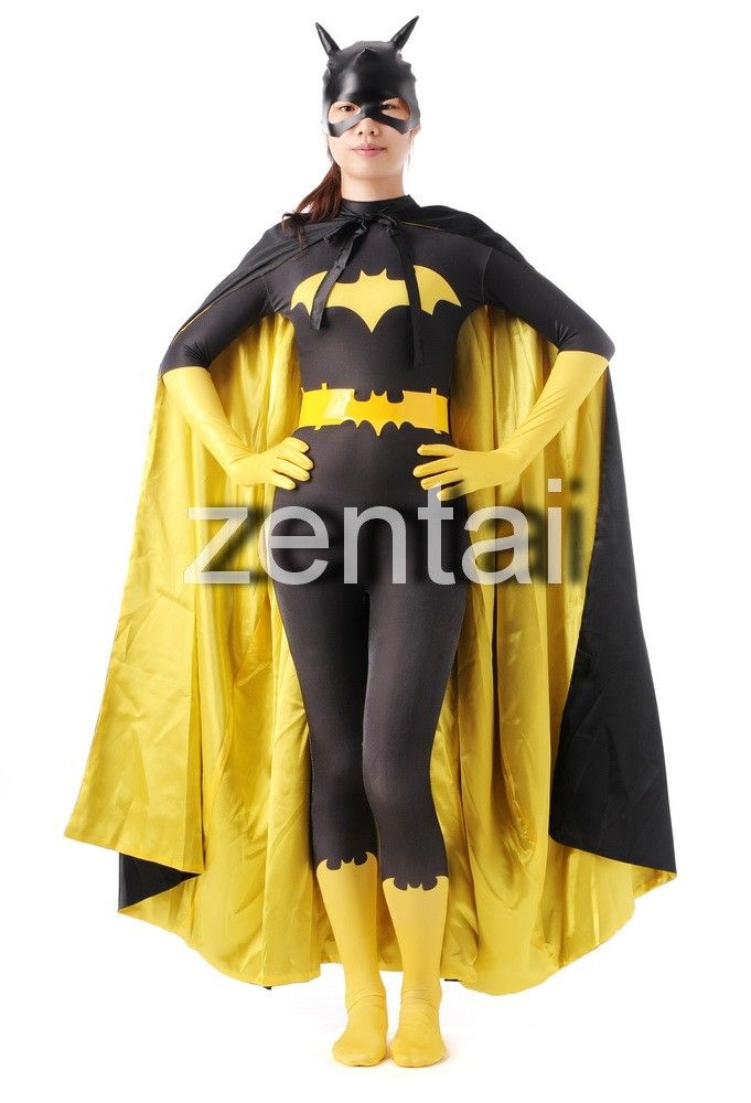 Freeshipping Batman Cosplay Costume Gray And Yellow Spandex Superhero Costume For Halloween Movie & Tv Costumes Novelty & Special Use