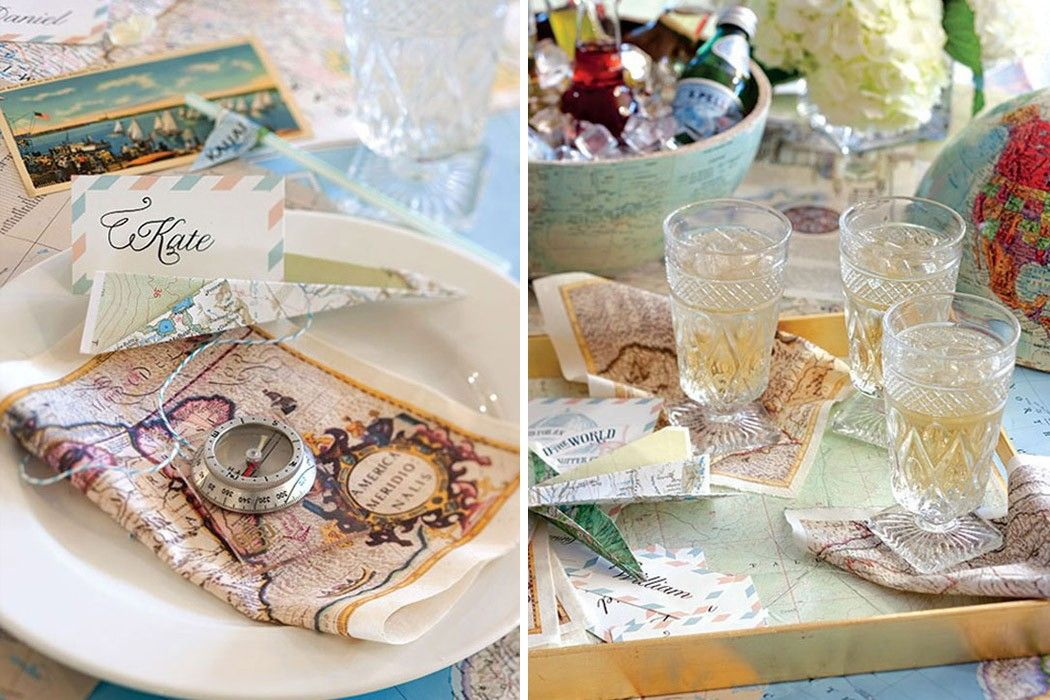 Ordinary International Dinner Party Ideas Part - 11: Travel Themed Dinner Party And Place Settings - Love This Idea For Pairing  Your Favorite International