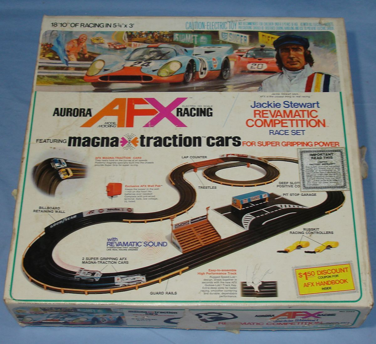 Aurora Afx Ho Slot Car Electric Racing Sets Phoenix 500 2211