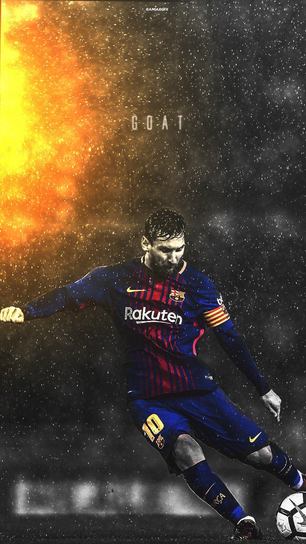 バルセロナのプロサッカー選手 メッシの壁紙