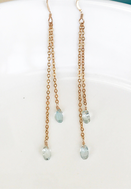 january birthstone earrings gemstone hoops earrings aquamarine hoop earrings christmas gift Rose quartz earrings gold hoop earrings