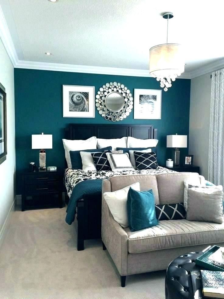 Inspired Bedrooms Peacock Blue Accent Wall Google Search Teal Bedroom Walls Bedroom Designs For Couples Master Bedroom Colors