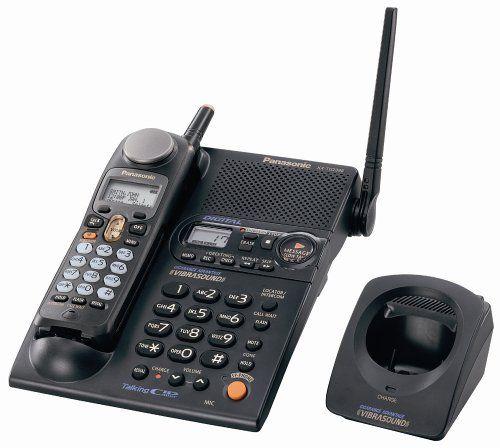Panasonic KX TG2388B 24 GHz FHSS GigaRange Digital Cordless Telephone With Bone Conduction Technology