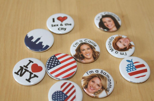 Sex & the city badges for a Hen Do in NYC. http://www.koolbadges.co.uk/index.php?main_page=advanced_search_result&search_in_description=1&keyword=sex+city&x=0&y=0