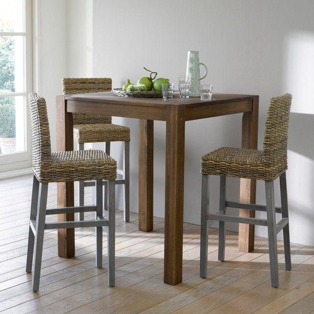 Autre Image Chaise De Bar En Manguier Et Kubu Lunja La Redoute - Finlandek table a manger extensible nuori pour idees de deco de cuisine