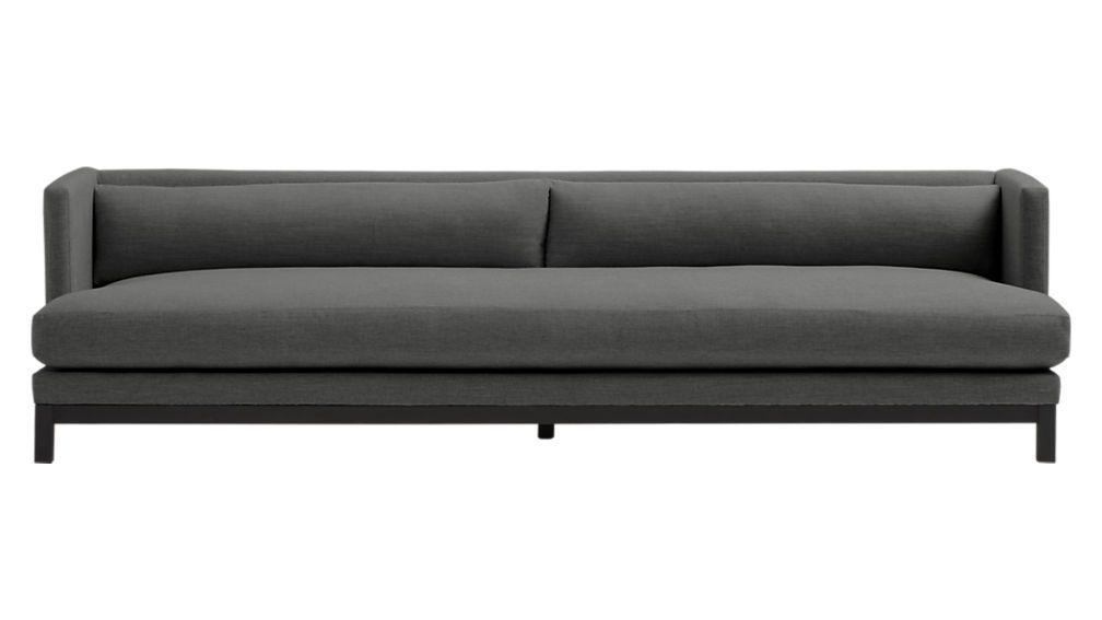 Shop Brava Long Sofa Brown Minimal Yet Cushy Sleek Yet Relaxed