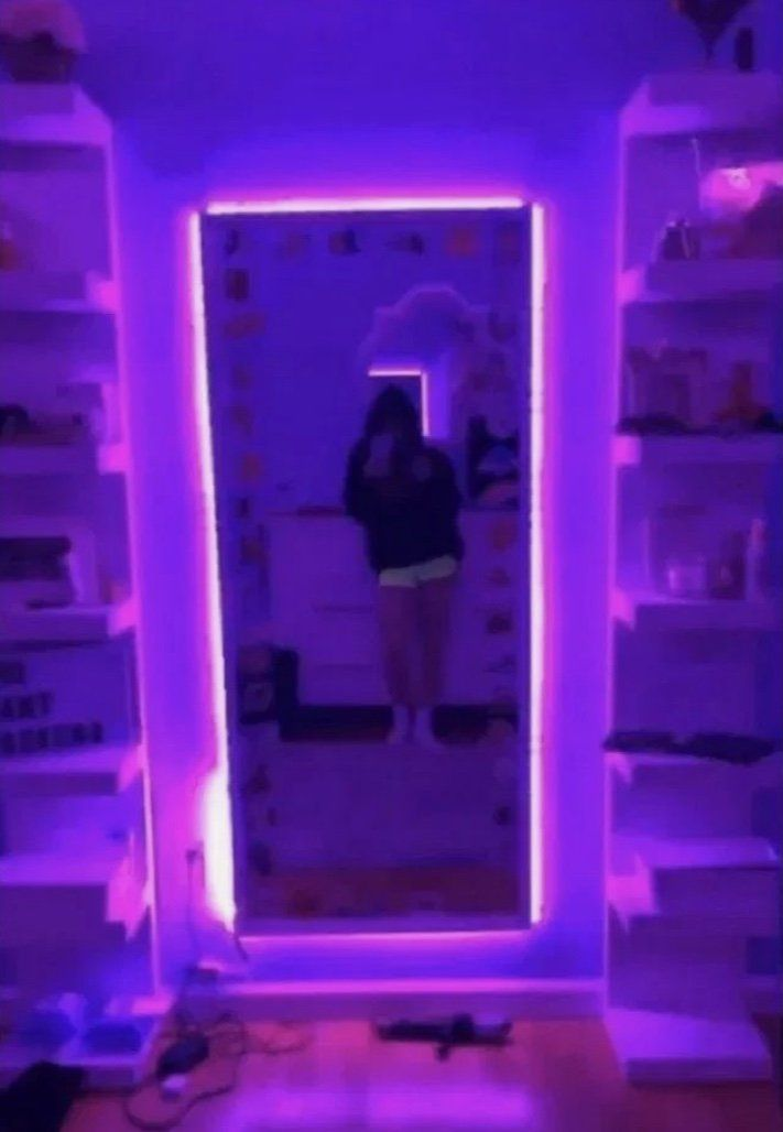 Edge Led Purple Lights Room Inspiration Bedroom Neon Bedroom Room Ideas Bedroom