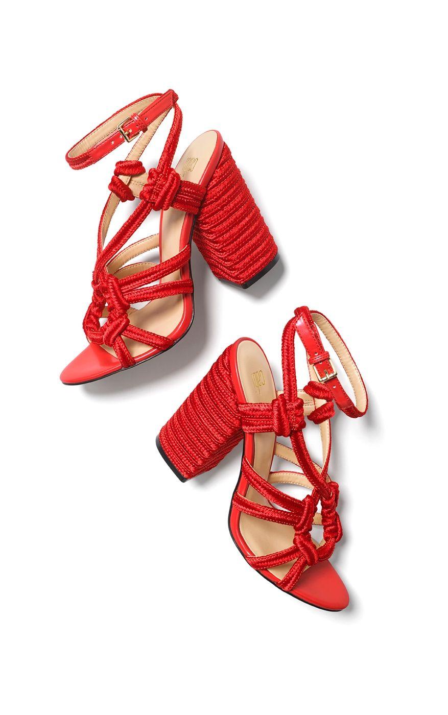 Missguided Macrame Rope Block Heel Sandal Block Heels Sandal High Heels Shopping Heels