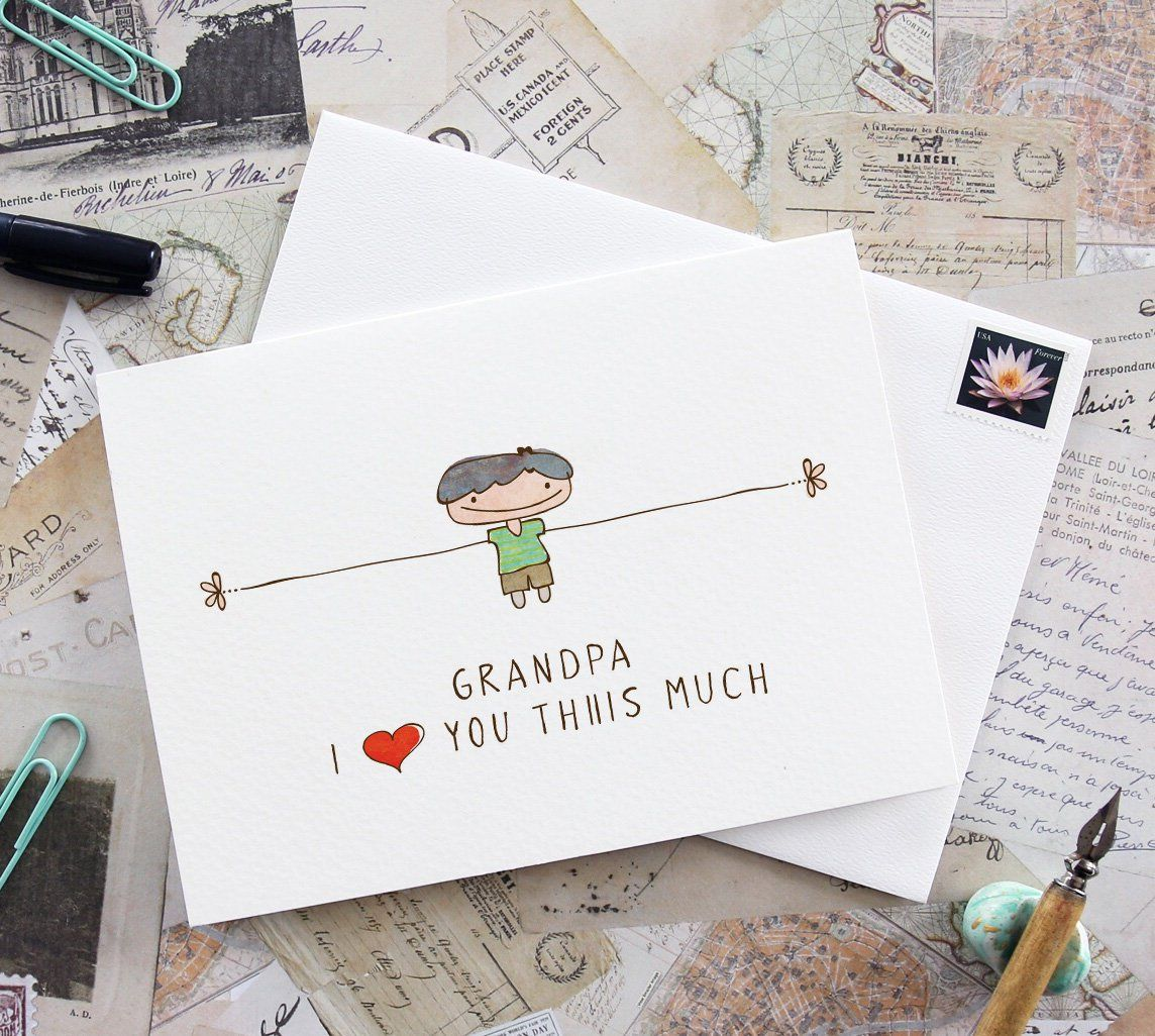 Printable card for Grandpa, Grandpa card, I love you grandpa, gift for grandpa, greeting cards, birthday card, Fathers day, card for grandpa