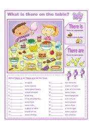 English teaching worksheets: There is there are