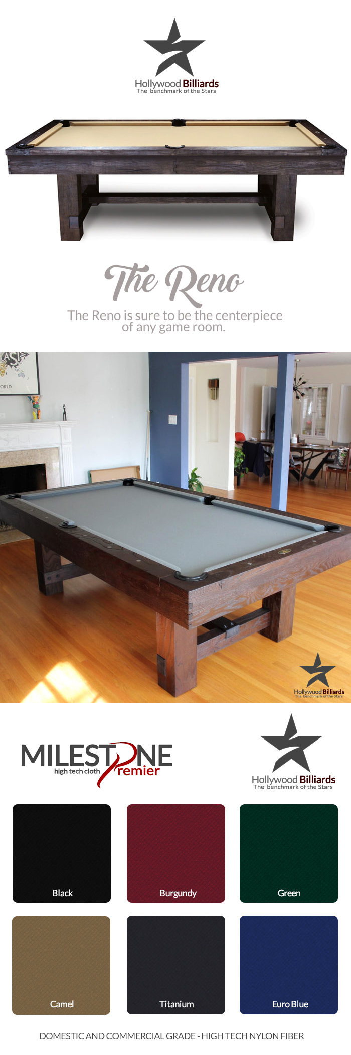 Tables 21213: New 7 And 8 Ft. Reno Pool Tables   Imperial Brand