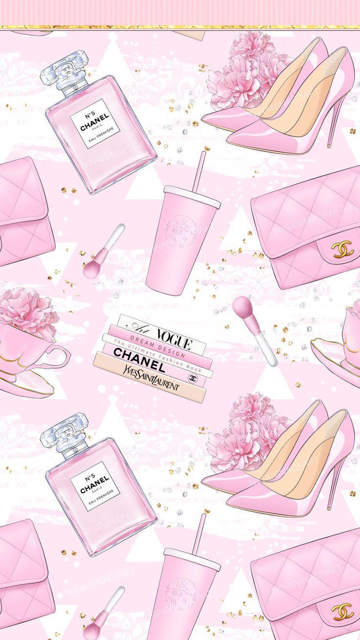 Glamorous Digital Papers, Fashion Seamless Pattern