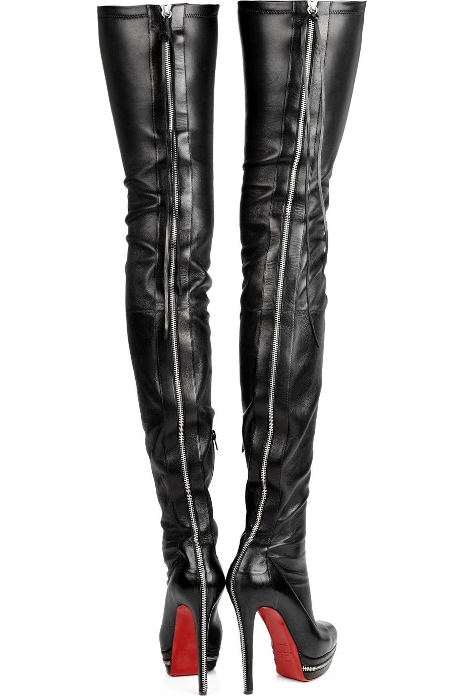 7a7a79662d6f Unique 140 leather thigh-high boots by Christian Louboutin