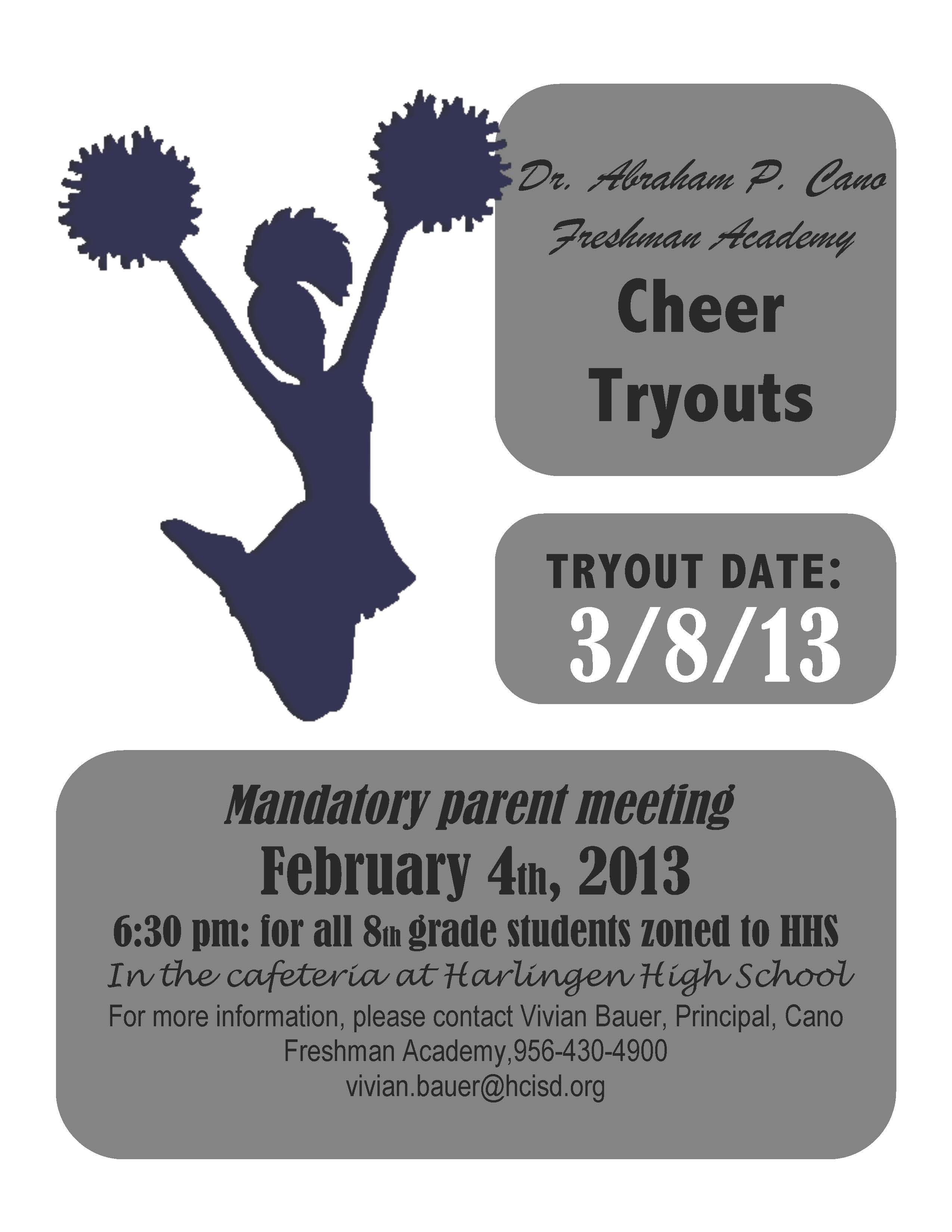 Cheer Tryout Flyer Template Invitation Templates