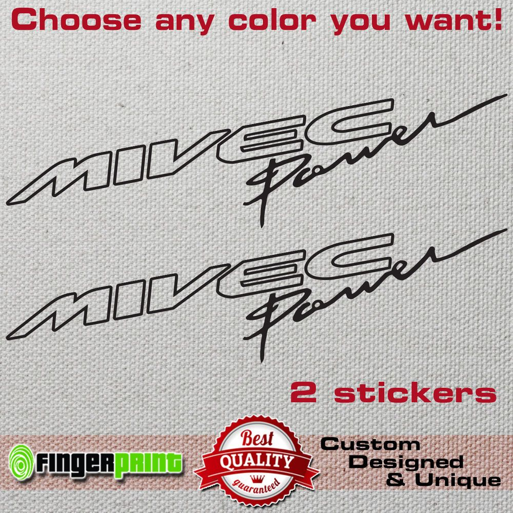 MIVEC POWER Vinyl Decal Sticker Mitsubishi Ralliart Evolution Colt - Colts custom vinyl decals for car