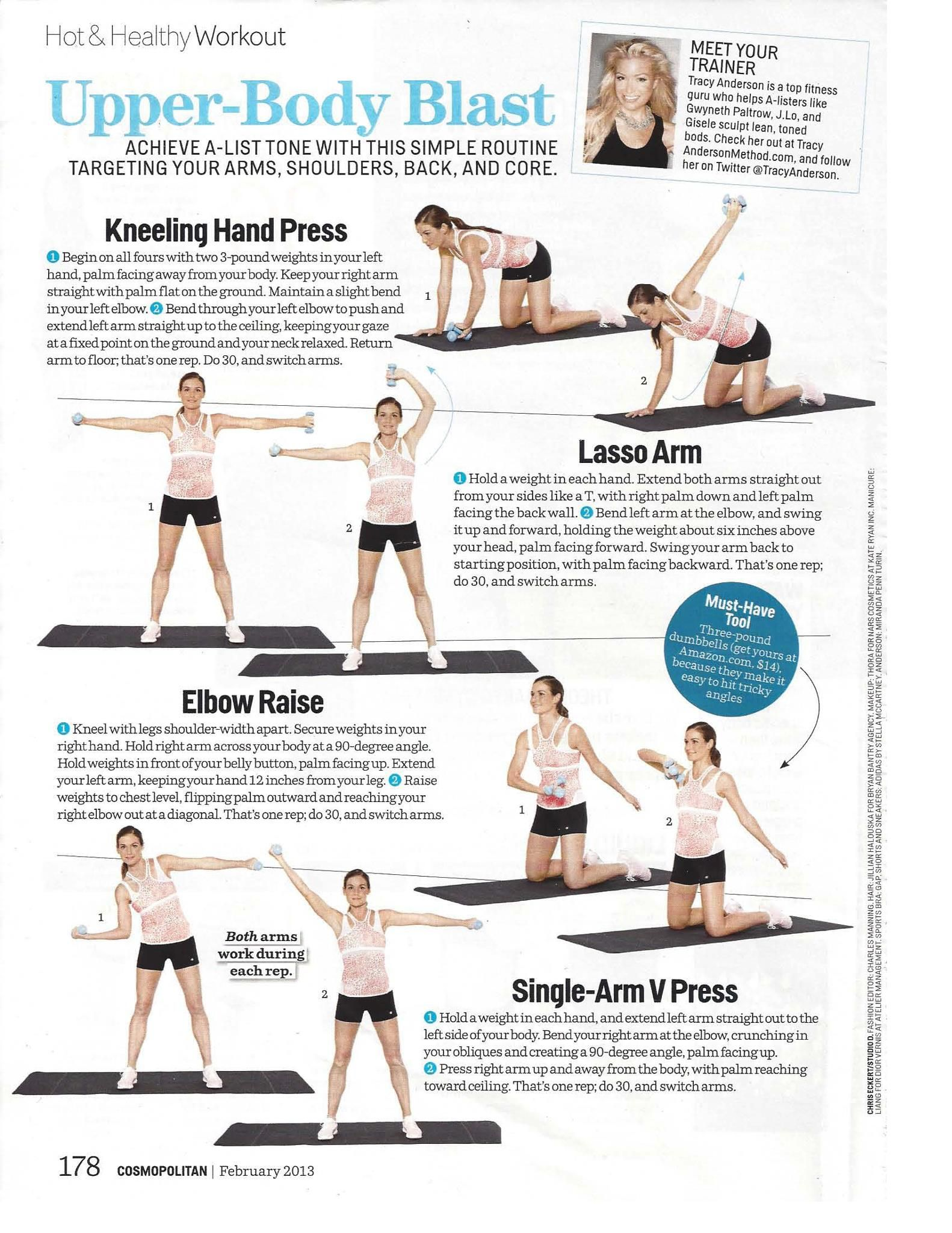 Lose 12 Inches With Any 12 Workouts : inches, workouts, Tracy, Anderson, Upper, Blast, Workout, Workout,, Anderson,