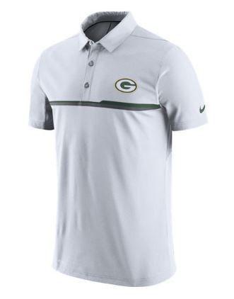 NFL Green Bay Packers Elite Coaches Polo Dri-Fit White Mens Nike ... a2b97b43b