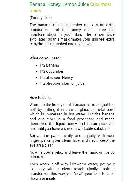 Extra hydrating homemade mask
