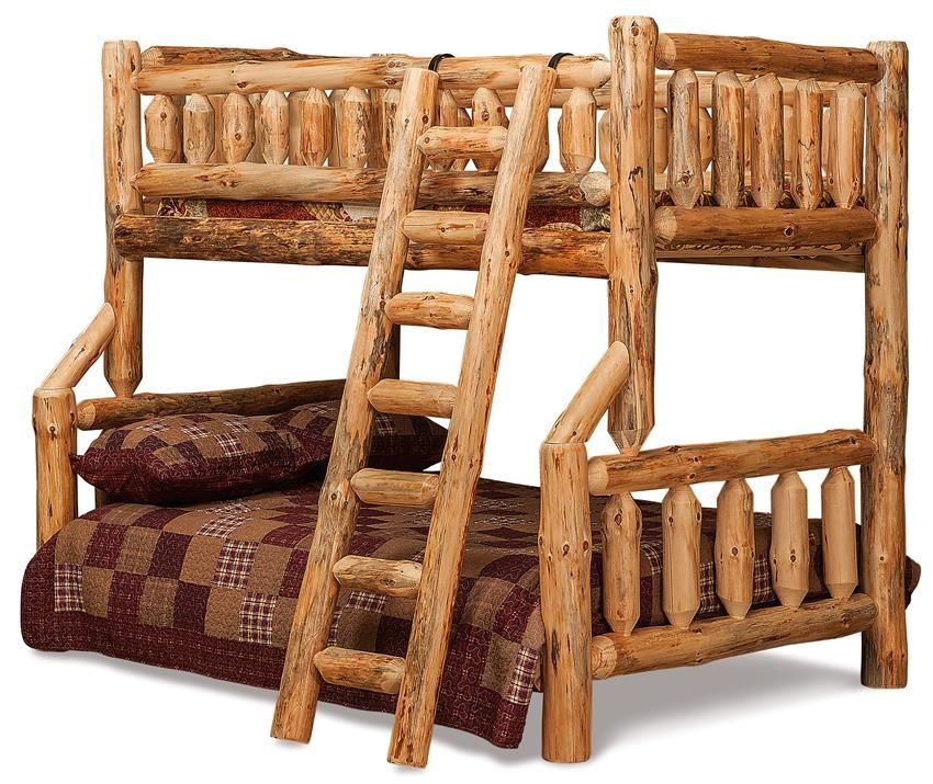 Amish Rustic Log Bunk Beds Log Furniture Plans Rustic Bunk Beds