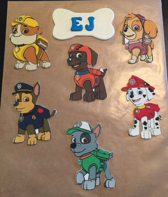 Paw Patrol Cake Decorating Kit by PeaceLoveandCakeNY on Etsy