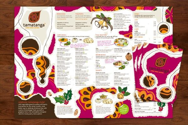 Pink Color Theme Rastaurant Menu Templates  Examples Of